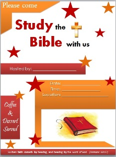 Free Bible Study Flyer Templates