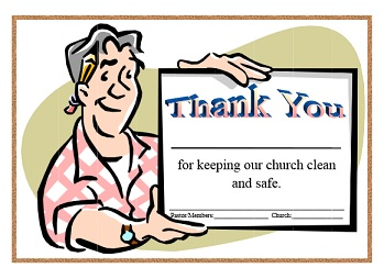 Church certificates does your church show appreciation for their janitors if yes then click the link below to access yadclub Choice Image