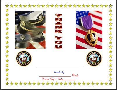 Veterans day free veteran39s day certificates forms for Veterans day certificate