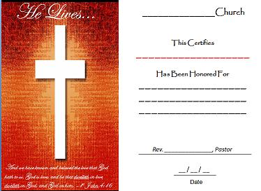 This Certificate Is Free To Download And Print For Your Church Members Every Needs Honor Their At Special Events