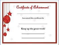 Nice Christmas Award Certificate #1 And Printable Christmas Certificates
