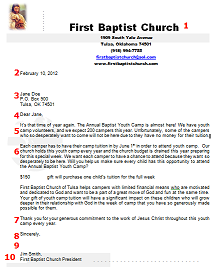 Sample Church Donation Request Letter