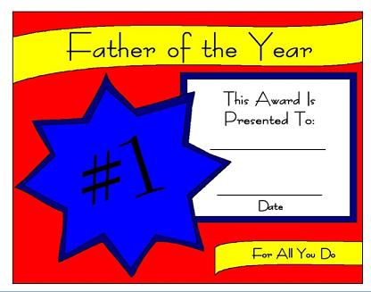 Fathers day certificates yadclub Gallery