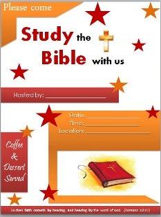 Free Bible Study Flyer Templates