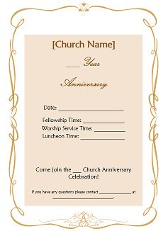 church anniversary ideas