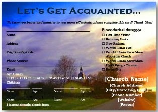 Church Visitor Cards