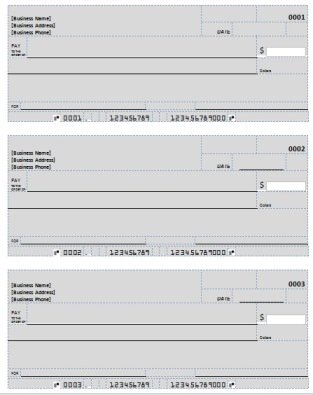 Blank Check Template  Deposit Form