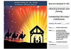 invitation to church service flyer